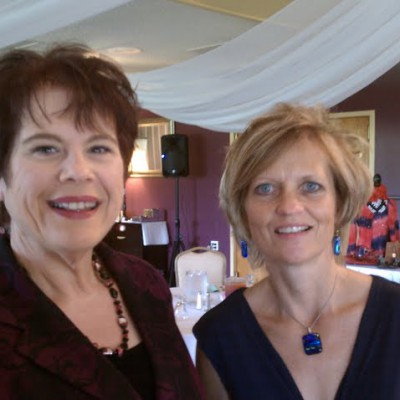 With fellow speaker Ava Diamond