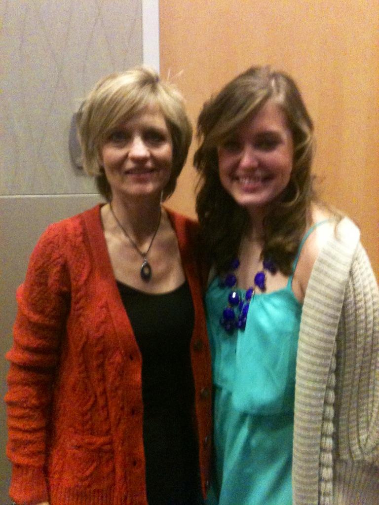 Lori with intern Martha Moseley