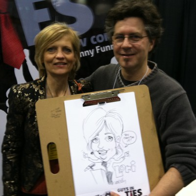 With Leo Kelly - awesome cartoon of me!