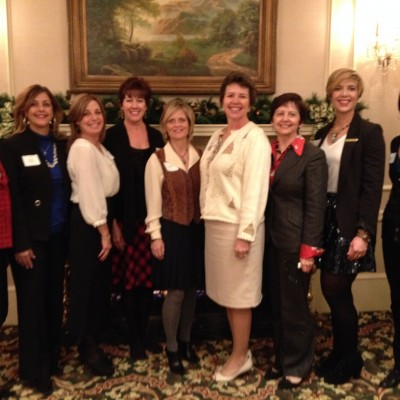 With ladies from Merrill Lynch