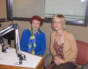 In studio with Helga Sitkin, Host Women of the World, American Radio Network (KLAS)