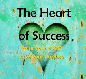 Heart of Success - logo tagline gold italics - small