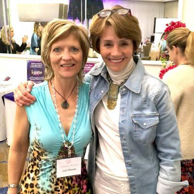 Lori with Lynne Twist, co-founder of Pachamama Alliance. Guest on Oprah's Super Soul Sunday