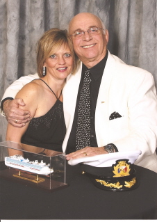 Lori With Gavin Macleod (Captain of the Love Boat)